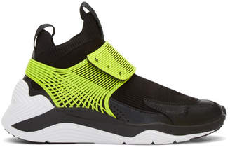 McQ Black and Green Hikaru 3.00 Sneakers