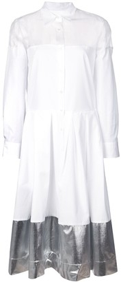 Sara Roka contrast panel shirt dress