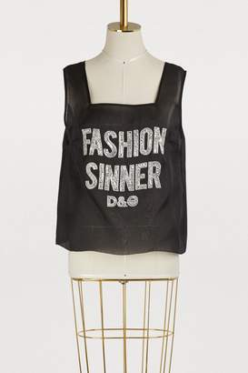 Dolce & Gabbana Fashion Sinner silk top