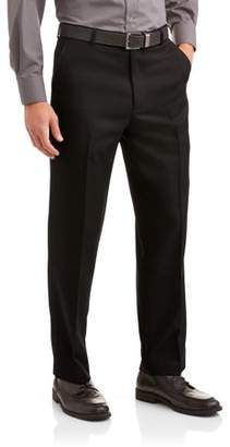 George Big Men's Microfiber Performance Flat Front Dress Pant