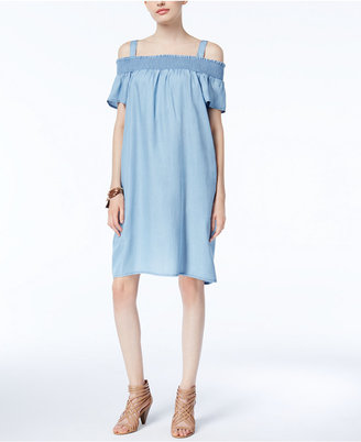 Inc International Concepts Cold-Shoulder Shift Dress, Created for Macy's $99.50 thestylecure.com