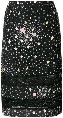 Moschino star print pencil skirt