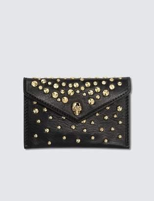 Alexander McQueen Skull Envelope Leather Card Holder