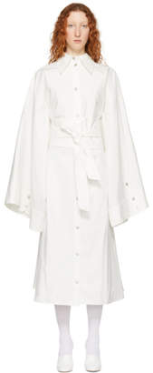Awake White Obi Belt Shirt Dress