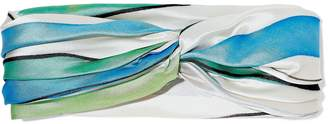 Eugenia Kim Malia Twisted Striped Satin-twill Headband