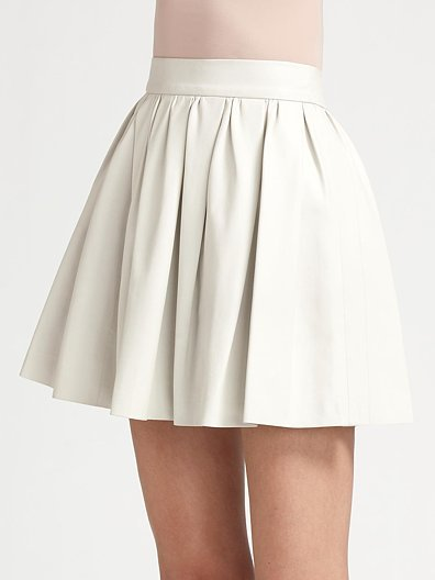 Opening Ceremony Leather Circle Mini Skirt