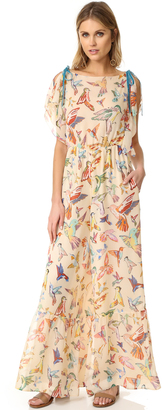 RED Valentino Print Birds Flare Jumpsuit $1,495 thestylecure.com
