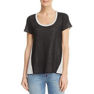 Three Dots Women's Reversible Colorblock Loose Short Shirt