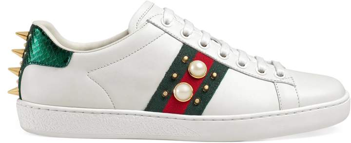 Ace studded leather sneaker