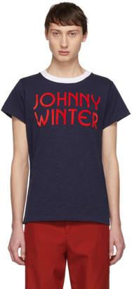 Acne Studios Navy Bla Konst Johnny Winter T-Shirt