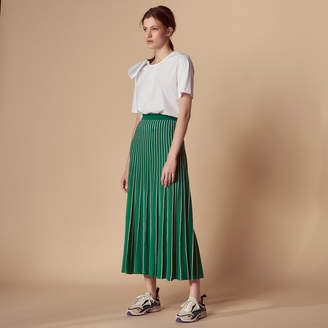 Sandro Mid-length two-tone knitted skirt
