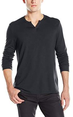 Joe's Jeans Men's Wintz Long Sleeve Luxe Solid Henley Shirt