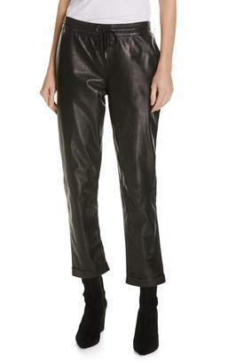 Frame Pull-On Leather Trousers