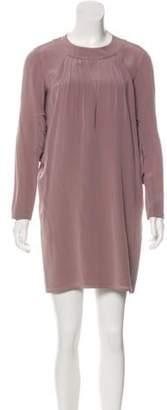 Miu Miu Silk Pleated Dress Silk Pleated Dress
