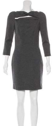 Diane von Furstenberg Slashed Arita Wool-Blend Dress