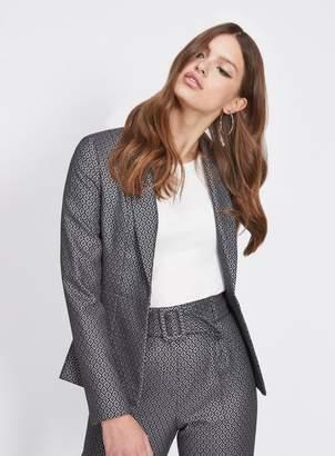 Miss Selfridge Silver jacquard blazer