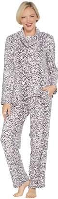 Carole Hochman Tall Waffle Fleece Novelty Pajama Set