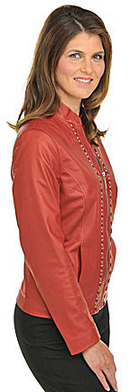 TanJay Faux-Leather Zip-Front Jacket