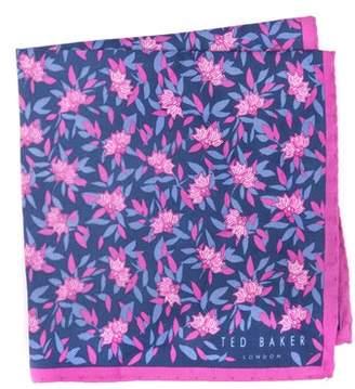 Ted Baker Botanical Silk Pocket Square
