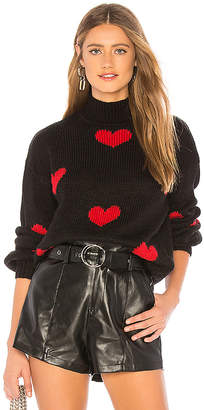 Lovers + Friends Heart Sweater