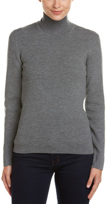 Pink Tartan Wool-Blend Sweater