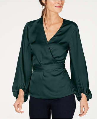 INC International Concepts I.n.c. Belted Wrap Top