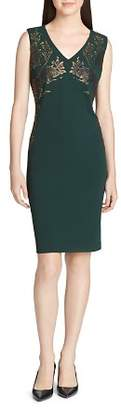Calvin Klein Beaded V-Neck Sheath Dress