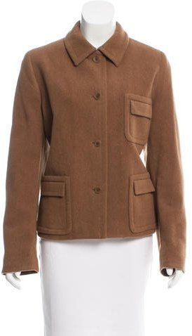 Calvin Klein Collection Wool Long Sleeve Jacket