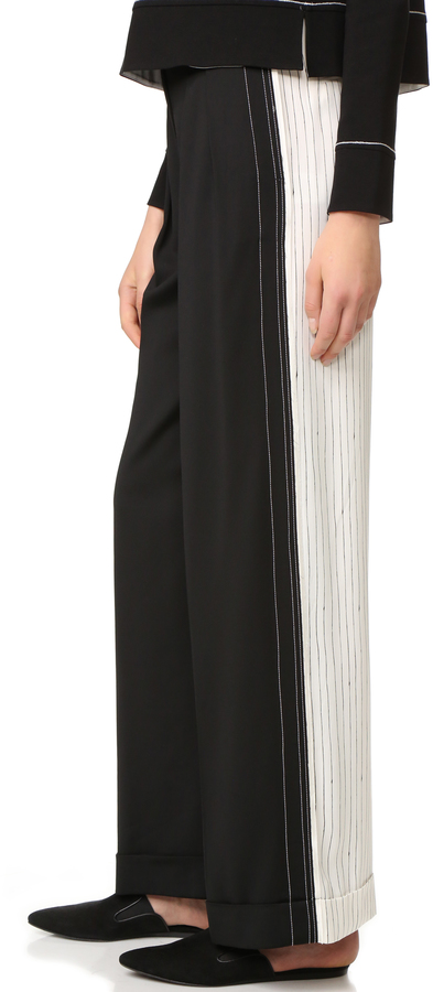 DKNY DKNY Wide Leg Pants with Cuffs