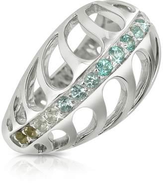 Sho London Sterling Silver Mari Rush Ring