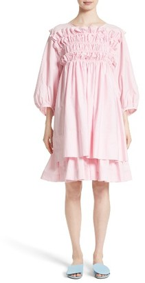 Women's Molly Goddard Smocked Frill Dress $990 thestylecure.com