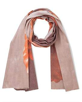 The Two Mrs Grenvilles Floral Lillys Scarf