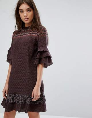 AllSaints Rayen Anokhi Dress in Silk
