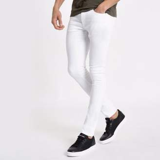 River Island White Danny super skinny stretch jeans