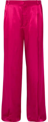 Givenchy Satin Wide-leg Pants - Fuchsia