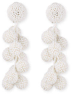 Sachin + Babi Coconut Beaded Clip Earrings
