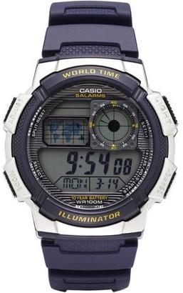 Casio Men's World Time Watch, Blue, AE1000W-2AVCF