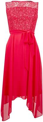 Dorothy Perkins Womens **Billie & Blossom Coral Midi Dress