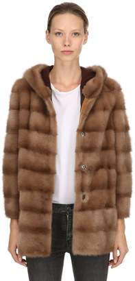 Simonetta Ravizza Tulipano Hooded Mink Fur Coat