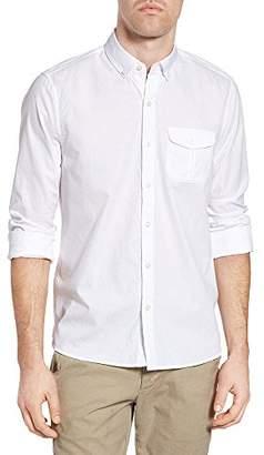 Michael Bastian Men's Long Sleeve Cotton Dobby Shirt