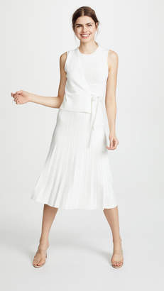 Yigal Azrouel Wrap Front Pleat Skirt Dress
