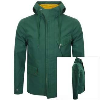 Pretty Green Hooded Contrast Jacket Green
