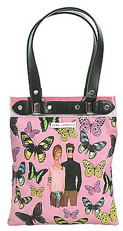 Miquelrius Jordi Labanda Butterflies Small Tote with Leather Handles