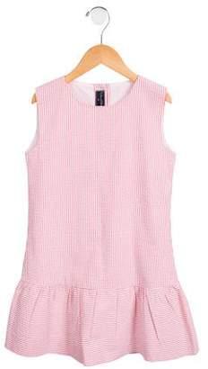 Oscar de la Renta Girls' Striped Seersucker Dress