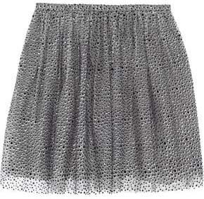RED Valentino Pleated Metallic Embellished Tulle Mini Skirt