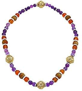 David Webb Women's Ancient World 18K Yellow Gold, Diamond, & Multi-Stone Beaded Long Necklace