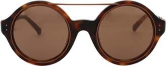 Linda Farrow Circle Browbar Sunglasses