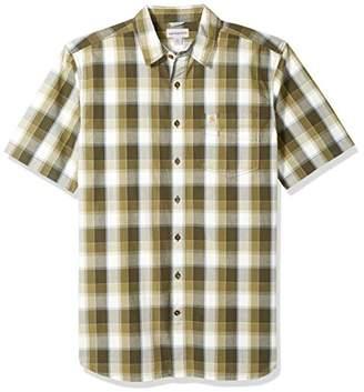 Carhartt Men's Big and Tall Essential Plaid Open Collar Short Sleeve Shirt