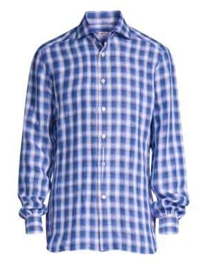 Kiton 3D Classic-Fit Plaid Shirt