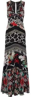 Roberto Cavalli Printed Silk-Georgette Gown